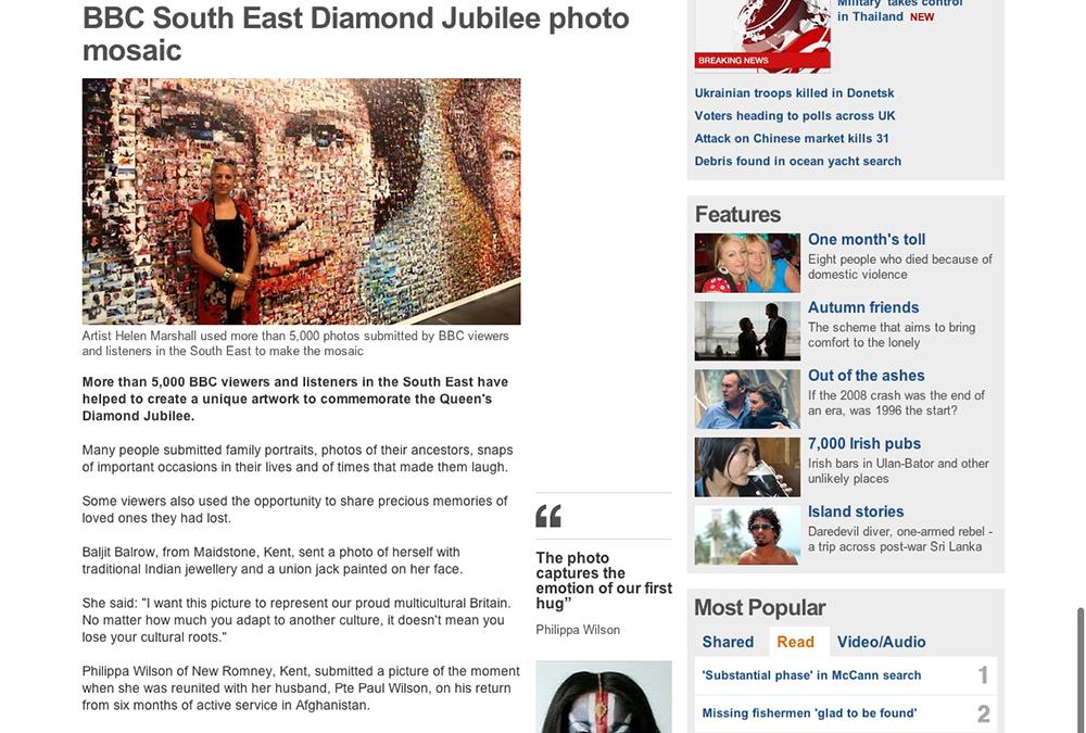South East Diamond Jubilee Photo Mosaic | BBC News | 2012