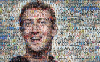 Mark Zuckerberg Mosaic | Financial Times | 2017