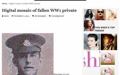 Digital mosaic of fallen WW1 private   Forevervogue   2014