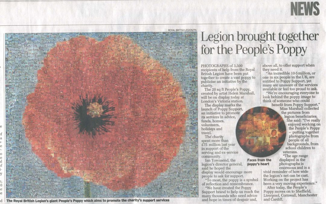 Legion Brought Together for The People's Poppy | The Daily Telegraph | 2006