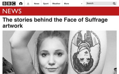 The stories behind the Face of Suffrage artwork | BBC | 2018