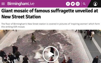 Giant mosaic of famous suffragette unveiled at New Street Station | Birmingham Mail | 2018