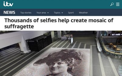 Thousands of selfies help create mosaic of suffragette | ITV | 2018