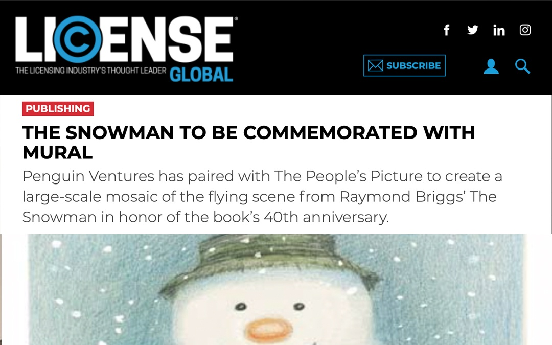 The Snowman to be commemorated with mural | License Global | 2018