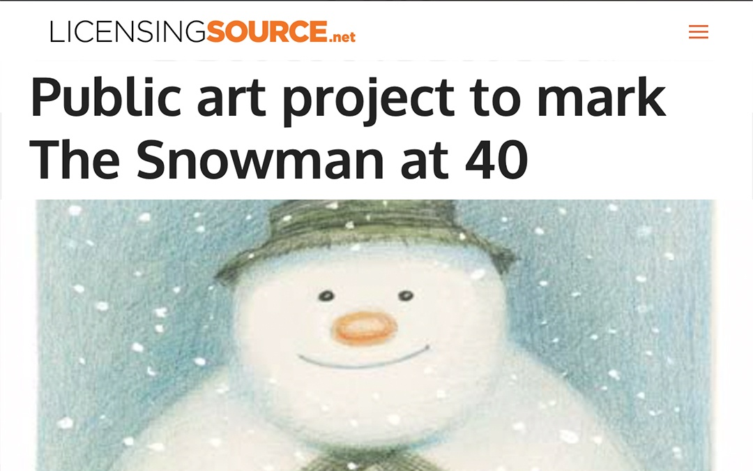 Public art project to mark The Snowman at 40 | Licensing Source | 2018