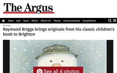 Raymond Briggs brings originals from his classic children's book to Brighton | The Argus | 2018