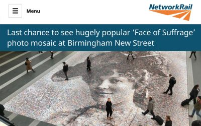 Last chance to see hugely popular 'Face of Suffrage' | Network Rail | 2018