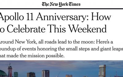 THE NEW YORK TIMES | APOLLO 11 ANNIVERSARY: HOW TO CELEBRATE THIS WEEKEND