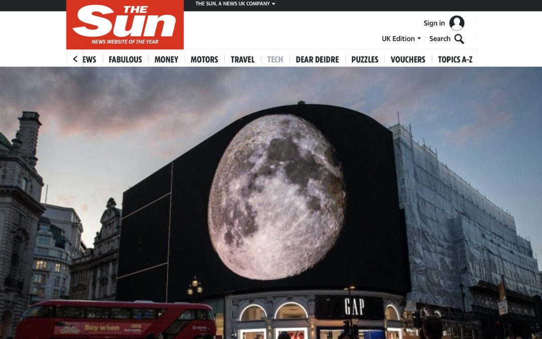 THE SUN | WASHINGTON MOONUMENT LIT UP BY SPECTACULAR FOOTAGE OF MOON LANDING TO MARK 50TH ANNIVERSARY OF APOLLO 11