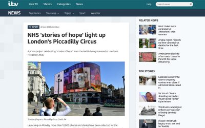 ITV News | NHS 'stories of hope' light up London's Piccadilly Circus | 2020