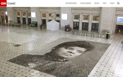 A 1,000 square foot mosaic of Ida B. Wells is being installed at Union Station in DC | CNN | 2020