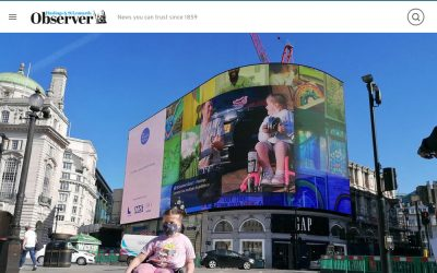 Eight year old Hastings girl lights up London's Piccadilly Circus as part of national tribute to the NHS | Observer | 2020