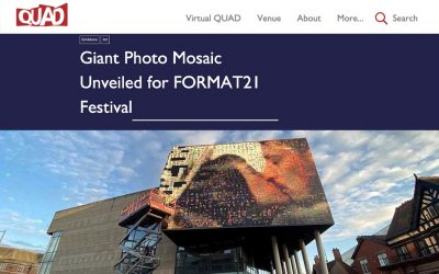 Giant Photo Mosaic Revealed for FORMAT21 Festival | QUAD | 2021
